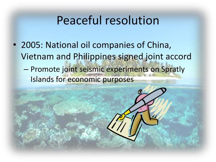 Peaceful resolution