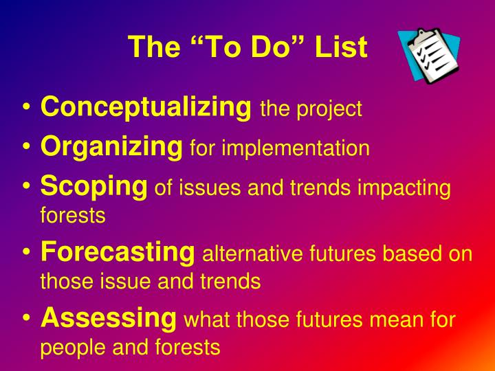"""The """"To Do"""" List"""