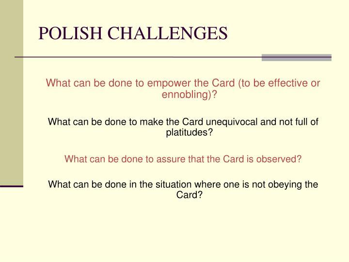 POLISH CHALLENGES