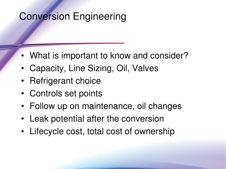 Conversion Engineering