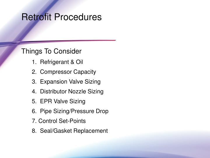Retrofit Procedures