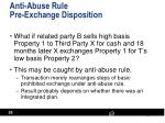 anti abuse rule pre exchange disposition