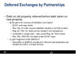deferred exchanges by partnerships