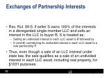 exchanges of partnership interests