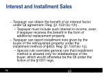 interest and installment sales