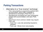 parking transactions