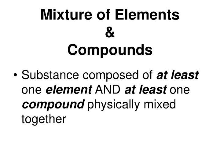 Mixture of Elements