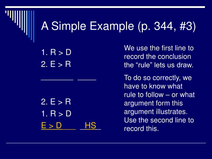 A Simple Example (p. 344, #3)