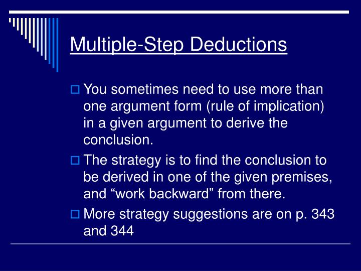 Multiple-Step Deductions