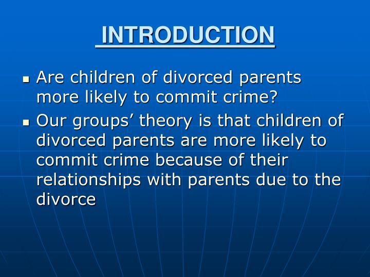an essay on american children of divorced parents Essay on parents the society of our human beings is really a complex system  both parents and children are members of a family we, as children, should not sit idle and enjoy the fruits of our parent's work, we should also give our love and respect to our parents  labels: essay on parents, essay writing on parents, parents essay.