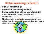 global warming is here1