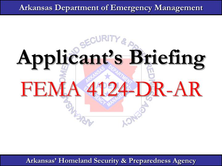 arkansas department of emergency management n.