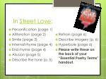 in street love
