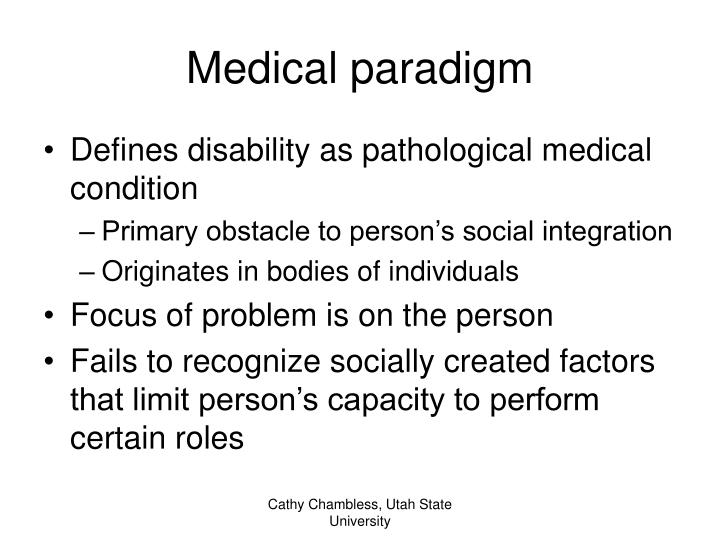 Medical paradigm