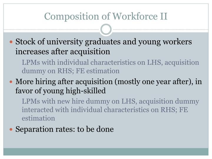 Composition of Workforce II