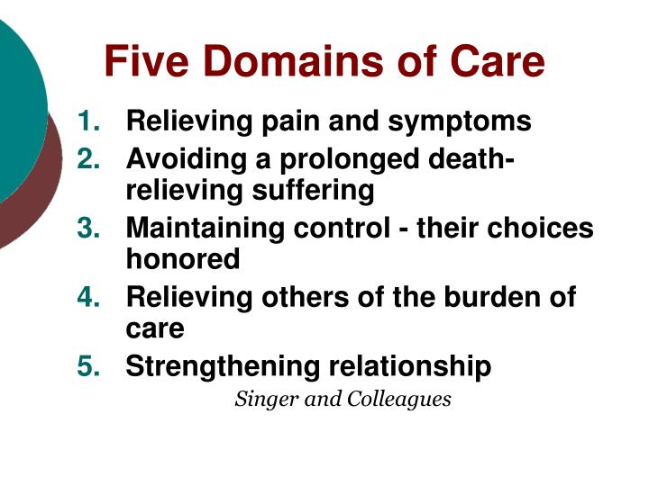 Five Domains of Care