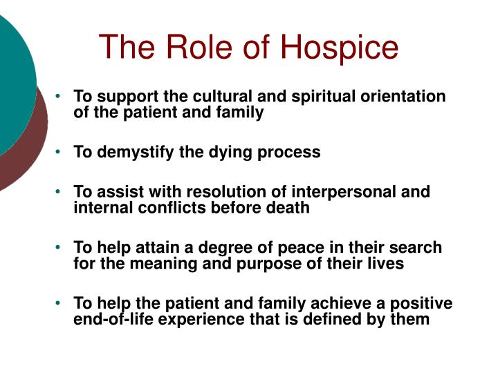 The Role of Hospice