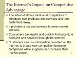 the internet s impact on competitive advantage