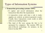 types of information systems1