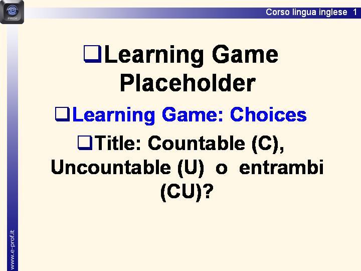 Countable (C), Uncountable (U)  o  entrambi (CU)?