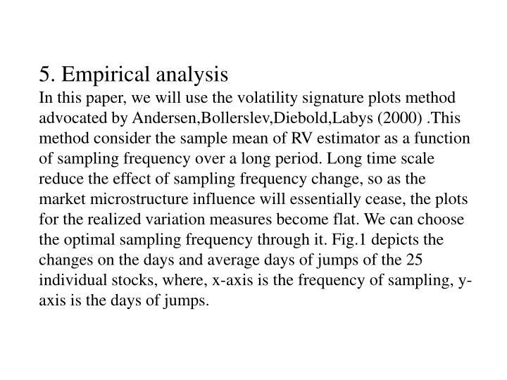 5. Empirical analysis