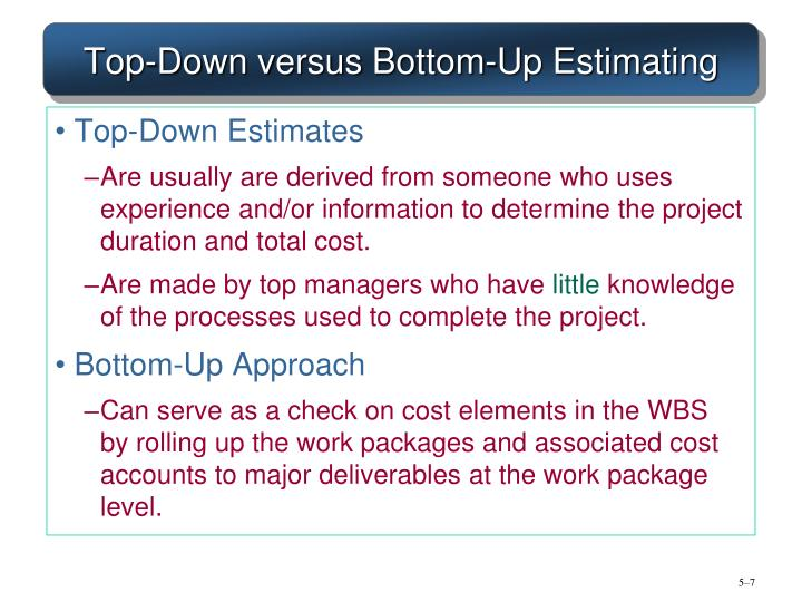 top down leadership vs bottom up The top-down and bottom-up approaches aid in the organization of a business what is bottom-up leadership style history of the top-down and bottom-up approach.