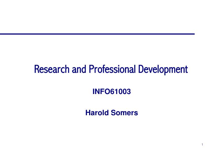 research and professional development n.