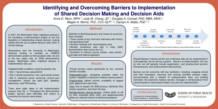 PPT - Identifying and Overcoming Barriers to Implementation