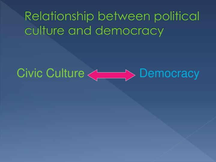 political culture and civic culture According to those who espouse that russian political culture has seen more continuity than change, there are two strands to this legacy civic participation.