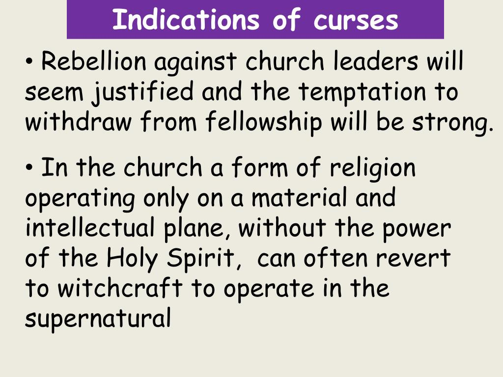 PPT - Witchcraft and it's influence in the Church PowerPoint