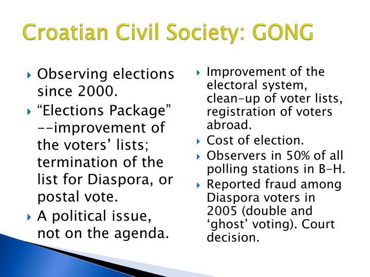 Croatian Civil Society: GONG