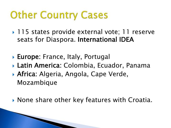 Other Country Cases
