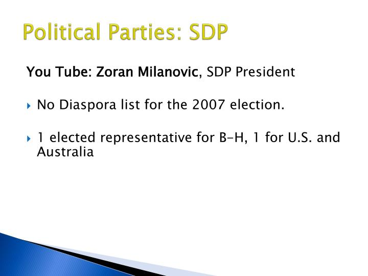 Political Parties: SDP