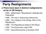 party realignments1