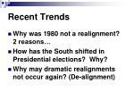 recent trends