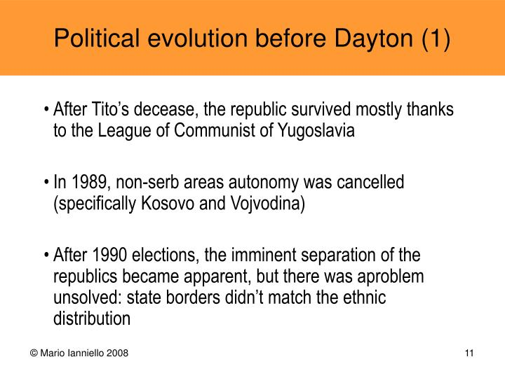 After Tito's decease, the republic survived mostly thanks to the League of Communist of Yugoslavia