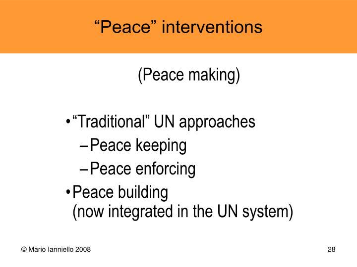 (Peace making)