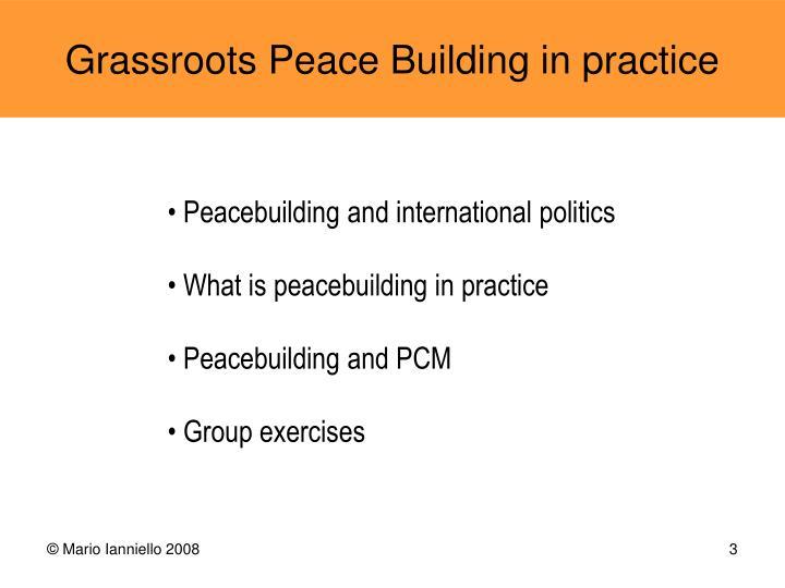 Peacebuilding and international politics