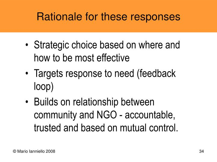 Strategic choice based on where and how to be most effective