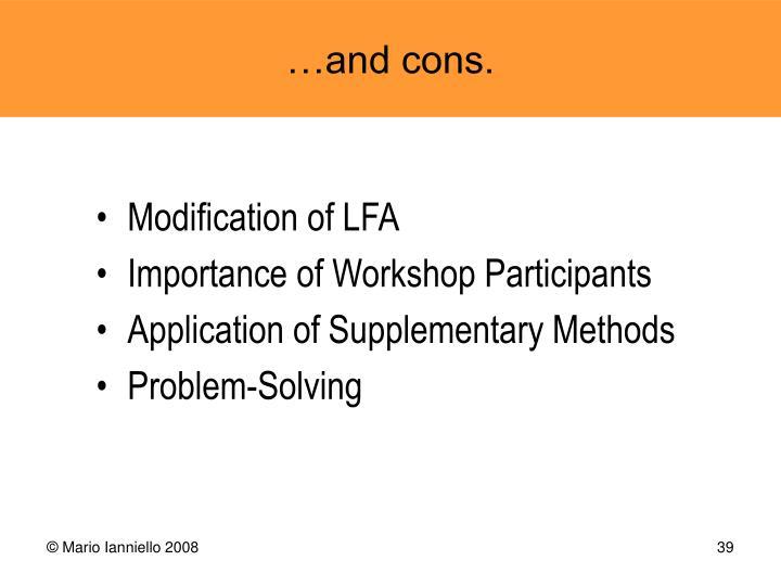 Modification of LFA