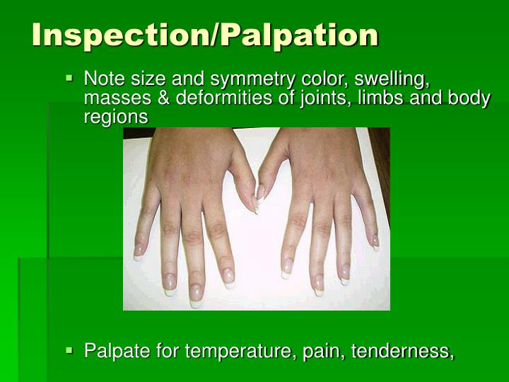 Inspection/Palpation