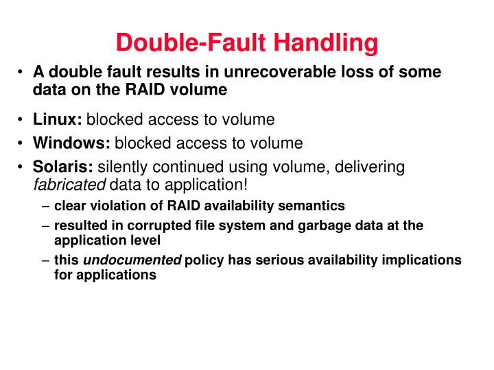 Double-Fault Handling