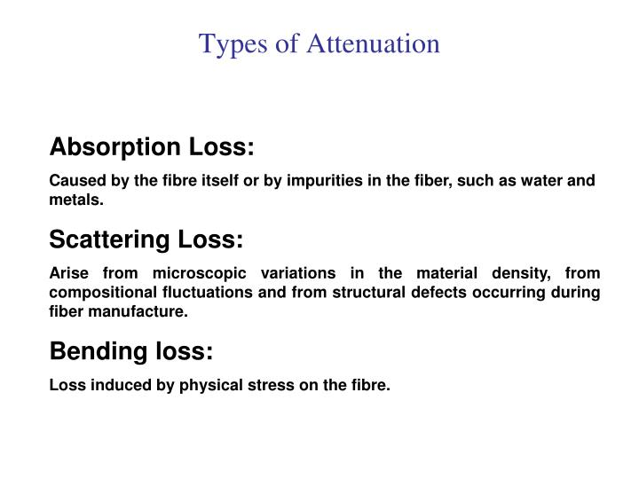 Types of Attenuation