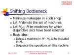 shifting bottleneck