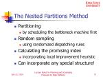 the nested partitions method