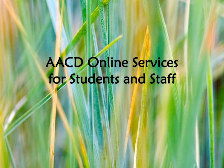 aacd online services for students and staff n.