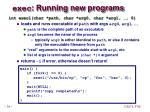 exec running new programs