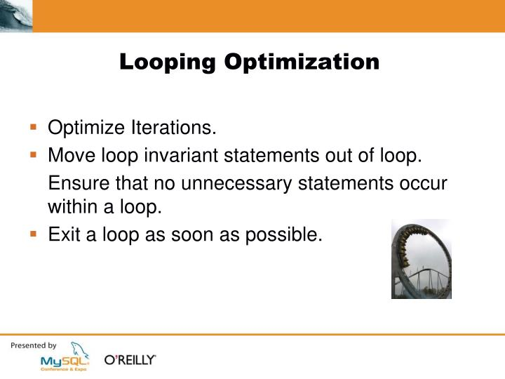 Looping Optimization