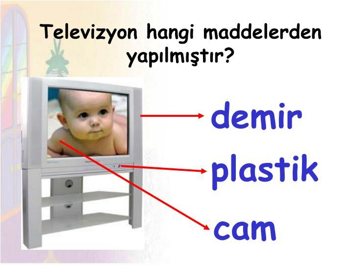 Televizyon hangi maddelerden yapılmıştır?