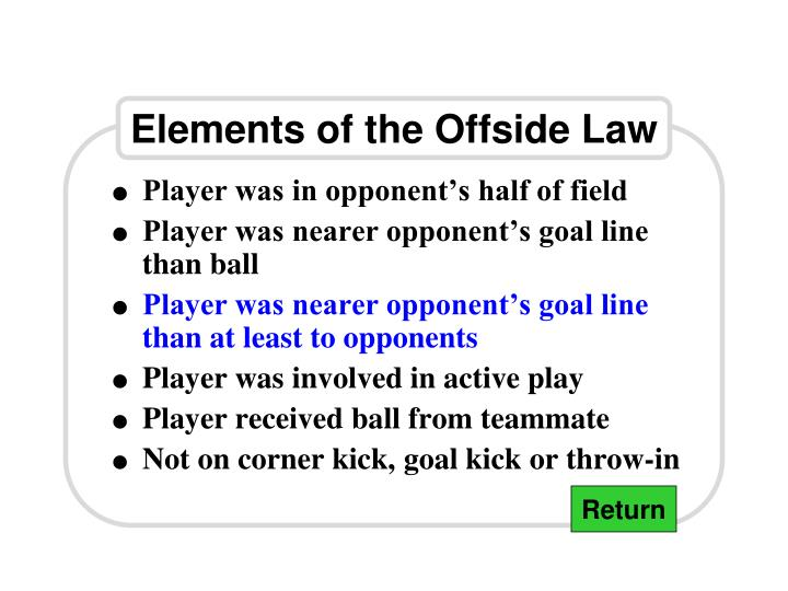 Elements of the Offside Law